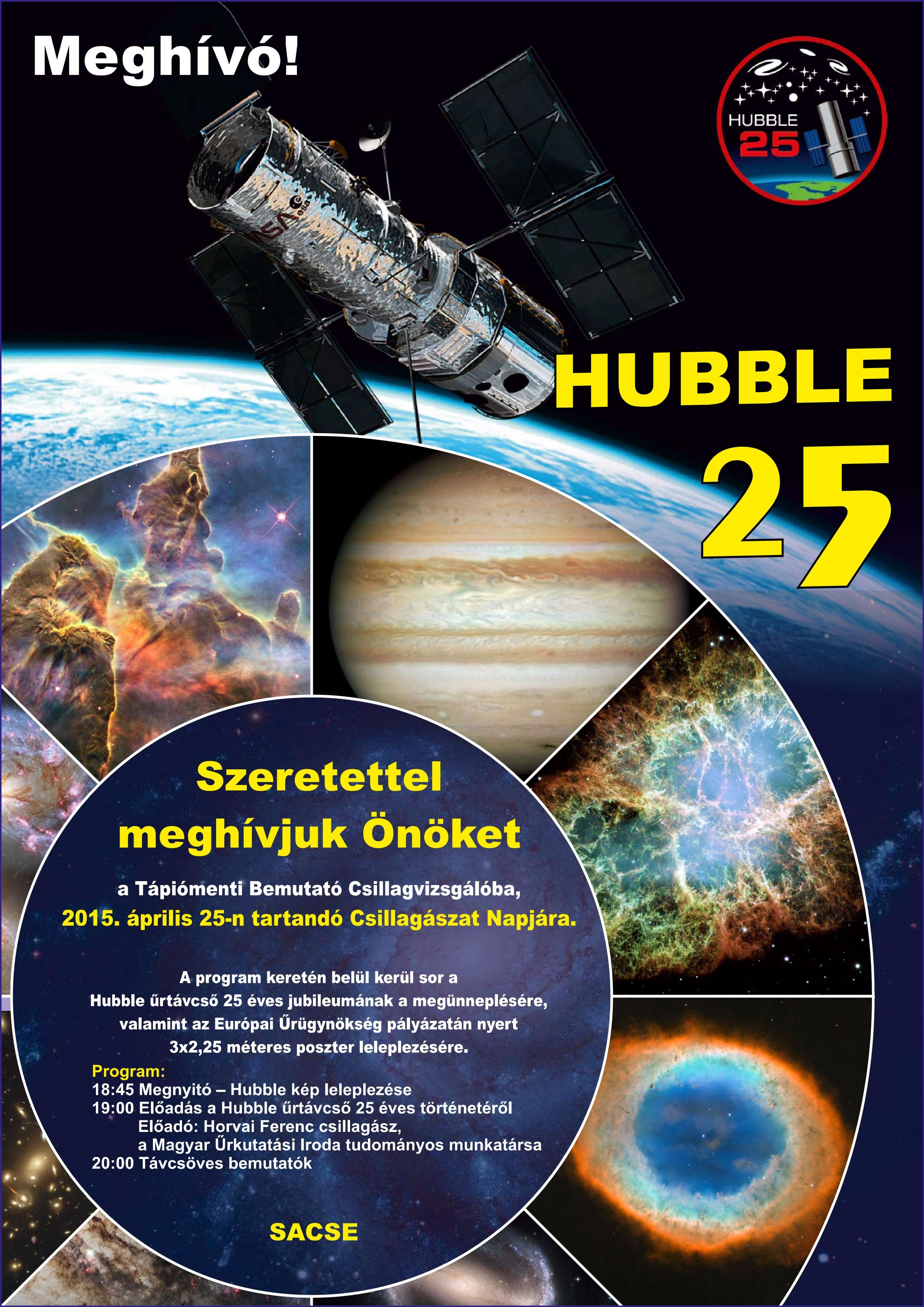 Csillagászat Napja – 25 éves a Hubble űrtávcső